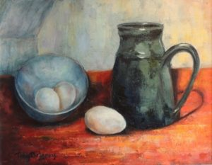 "Eggs and Coffee, Toby DeLaney, $125, 11""x 14"""