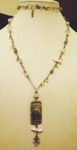 Handmade sterling and precious stone necklace courtesy of jeweler, Cynthia Murray