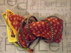 Handmade wrap bracelet courtesy of Per Lei Boutique, Media